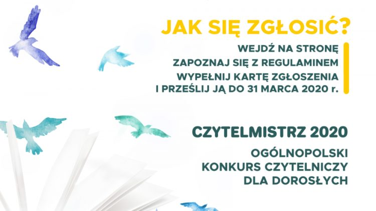 """Konkurs  dla miłośników książek –  """"Czytelmistrz 2020"""""""